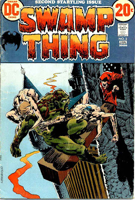 Swamp Thing v1 #2 dc comic book cover art by Bernie Wrightson