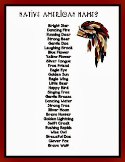 Funny Native American Indian Girl Names