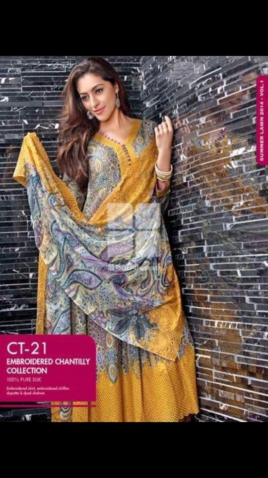 New Spring lawn Collection 2014 by Gul Ahmed