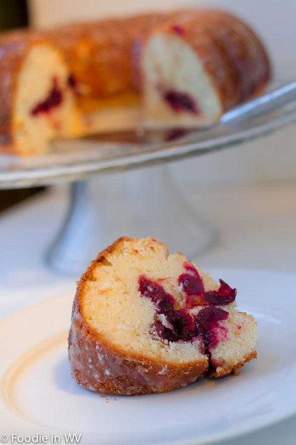 Gluten Free Reduced Sugar Cranberry Bundt Cake Using Swerve Sweetener #switch2swerve