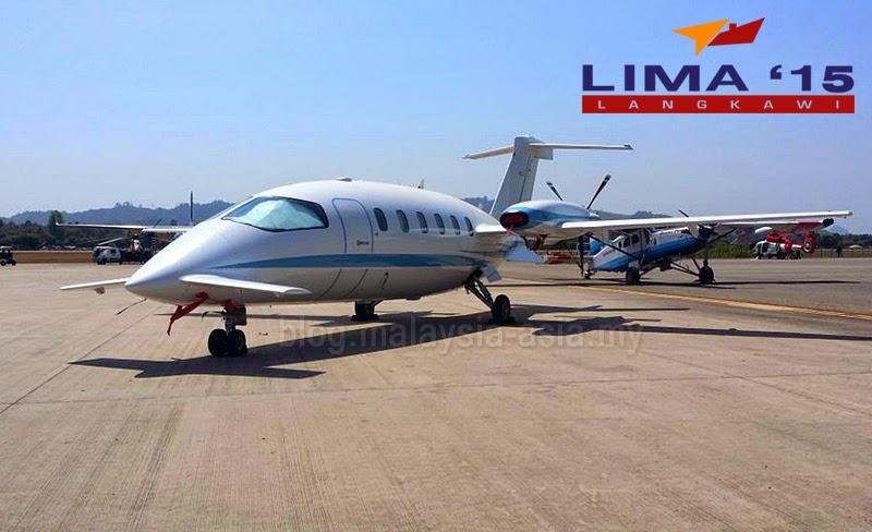 LIMA 2015 Piaggio P180 Plane