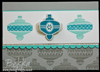 Cute Christmas Collectitbles Christmas Card by UK Stampin Up Demo - check out her blog for lots of great ideas