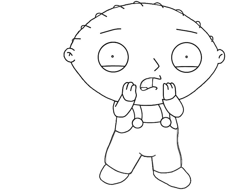 Stewie Griffin Cute Avondale Style Stewie Coloring Pages