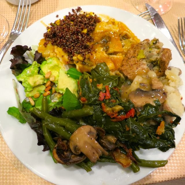 The veracious vegan vsdc 39th life affirming thanksgiving for Creamy polenta with mushrooms and collards