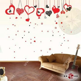 Imaginary hearts wall stickers drawings for living room walls