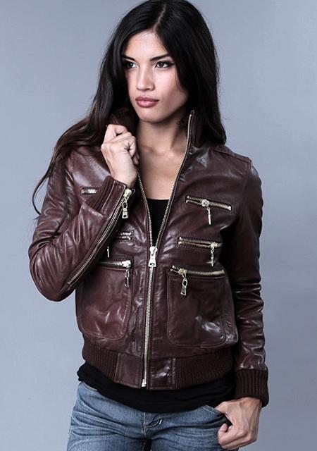 Модные женские кожаные куртки