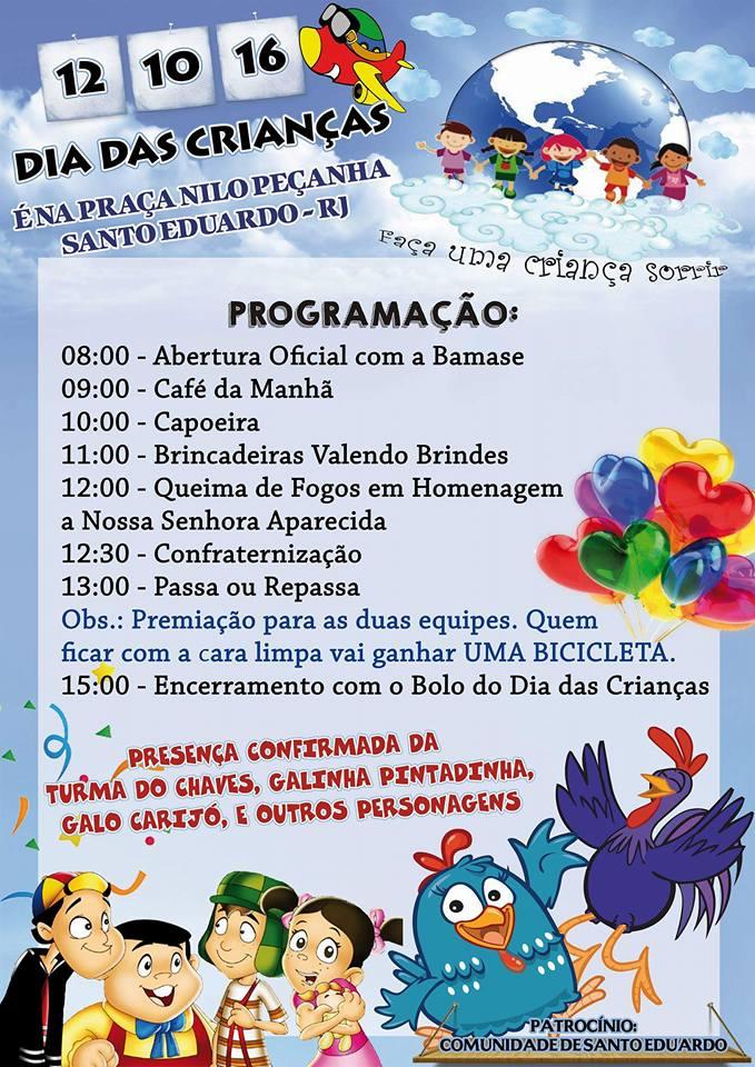 Dia das Crianças com festa para toda gurizada de Santo Eduardo