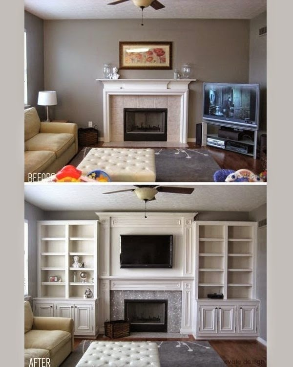 15 functional living room shelving ideas and units for Bookshelves ideas living rooms