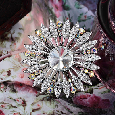 stering silver floral rings white crystal sunflower