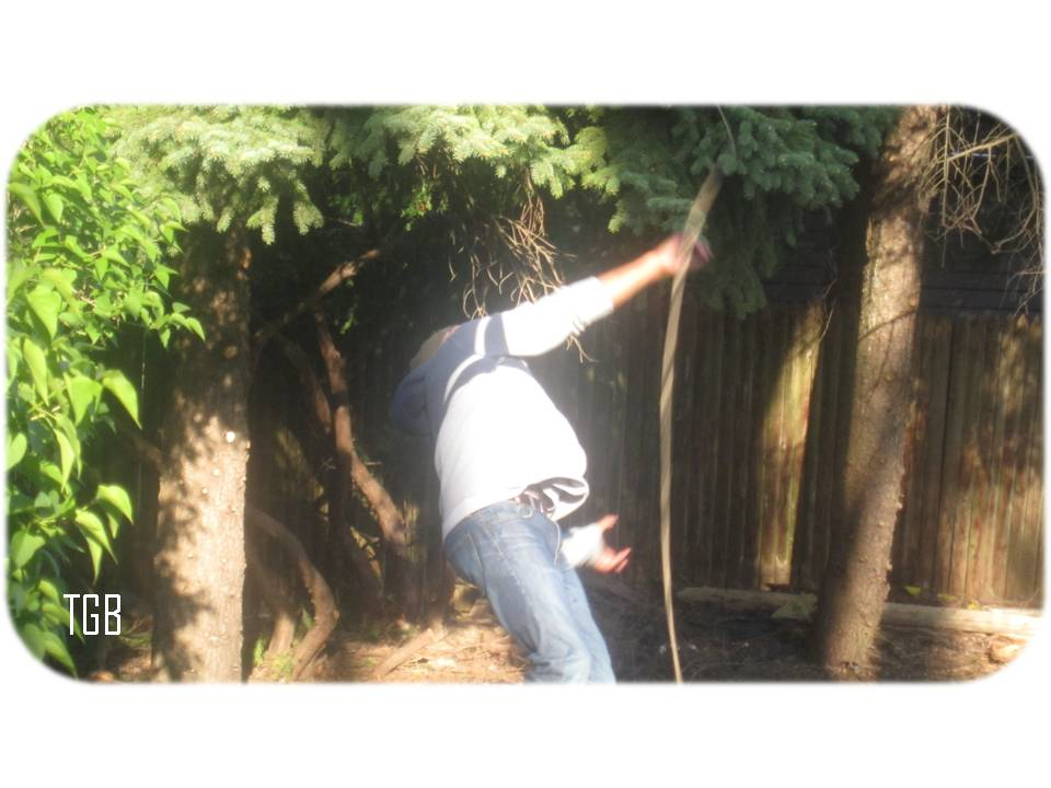 how to make a vertical tire swing