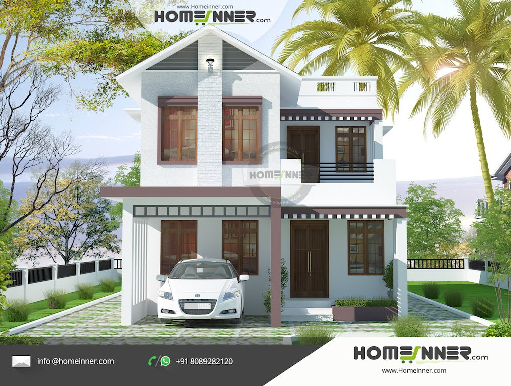 Beautiful and low budget 4 bhk 1777 sqft modern kerala for Small contemporary house plans in kerala