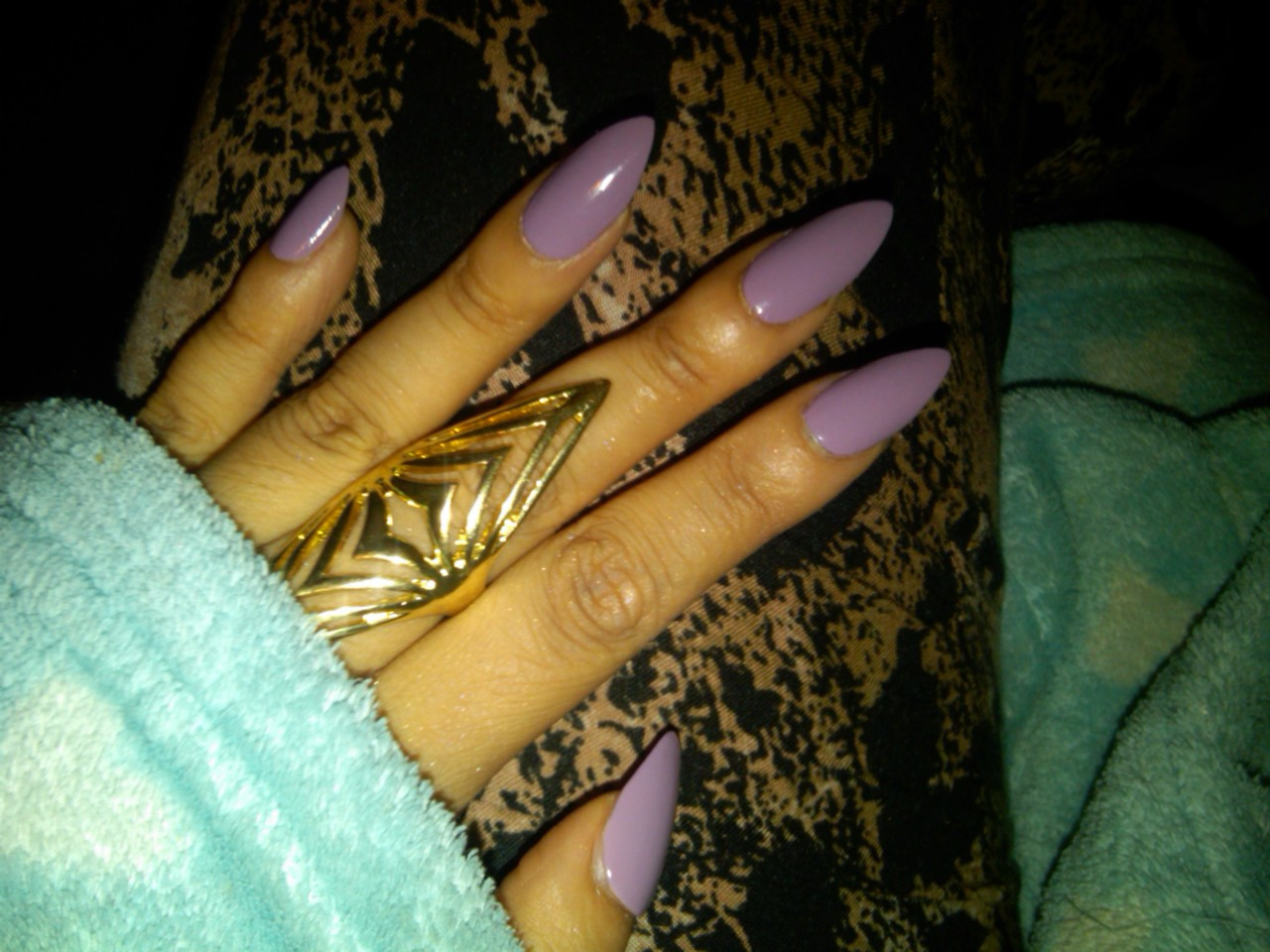 trends stiletto nails ombre and colored hair fashion