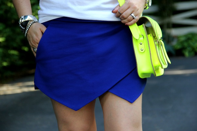 Blue geometric shorts from Forever 21