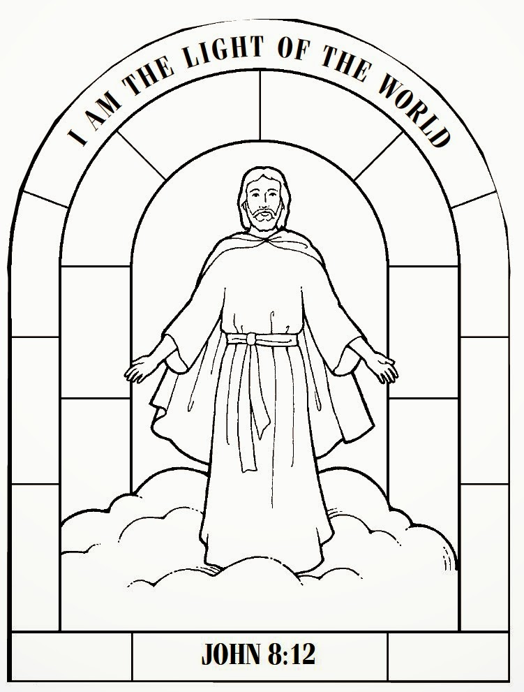 Jedi craft girl jesus is the light of the world for Light of the world coloring pages