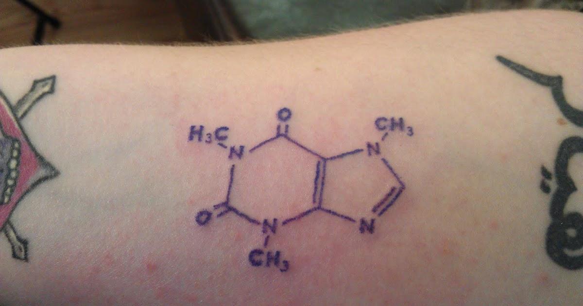 Ddefective ink caffeine molecule for Caffeine molecule tattoo