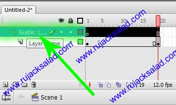 Click On Guide Layer Of Adobe Flash
