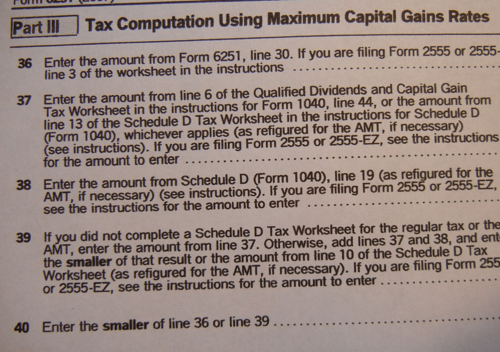 Worksheet Qualified Dividends And Capital Gain Tax Worksheet Line