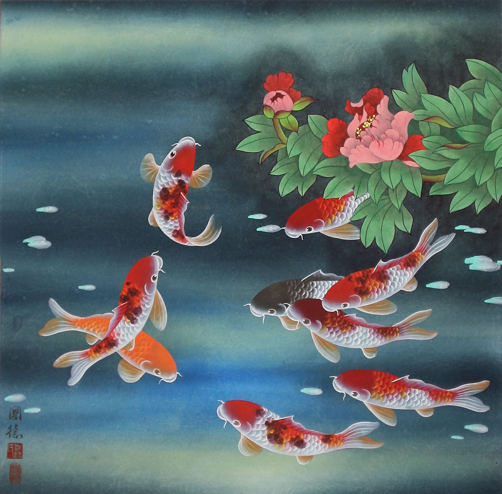 My dreams koi fish chinese paintings for Japanese fish painting