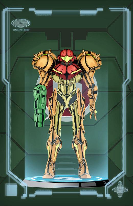Metroid - Samus Aran Suit Poster por HellGab