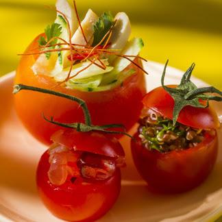 Clo 39 s sensuous delights tomates farcies de salades d 39 et for Entree fraiche ete