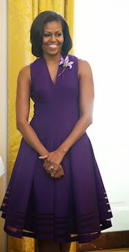 COLOR ME PURPLE FASHION DIVA: MICHELLE OBAMA INSPIRE PANTONE PURPLE HUE COLOUR - DivaSnap.com