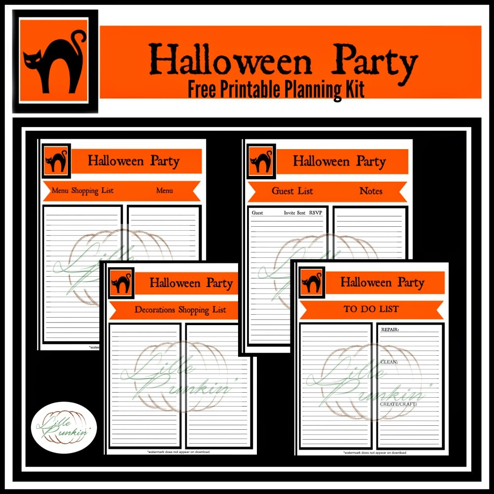 Lille Punkin': Free Halloween Party Planning Printables!