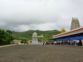 Devotees waiting for Darshan