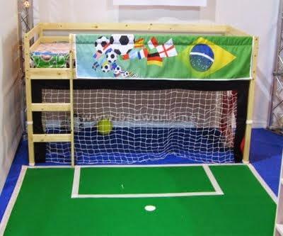 Habitaciones tema f tbol ideas para decorar dormitorios for Decoracion de cuartos de ninos de futbol