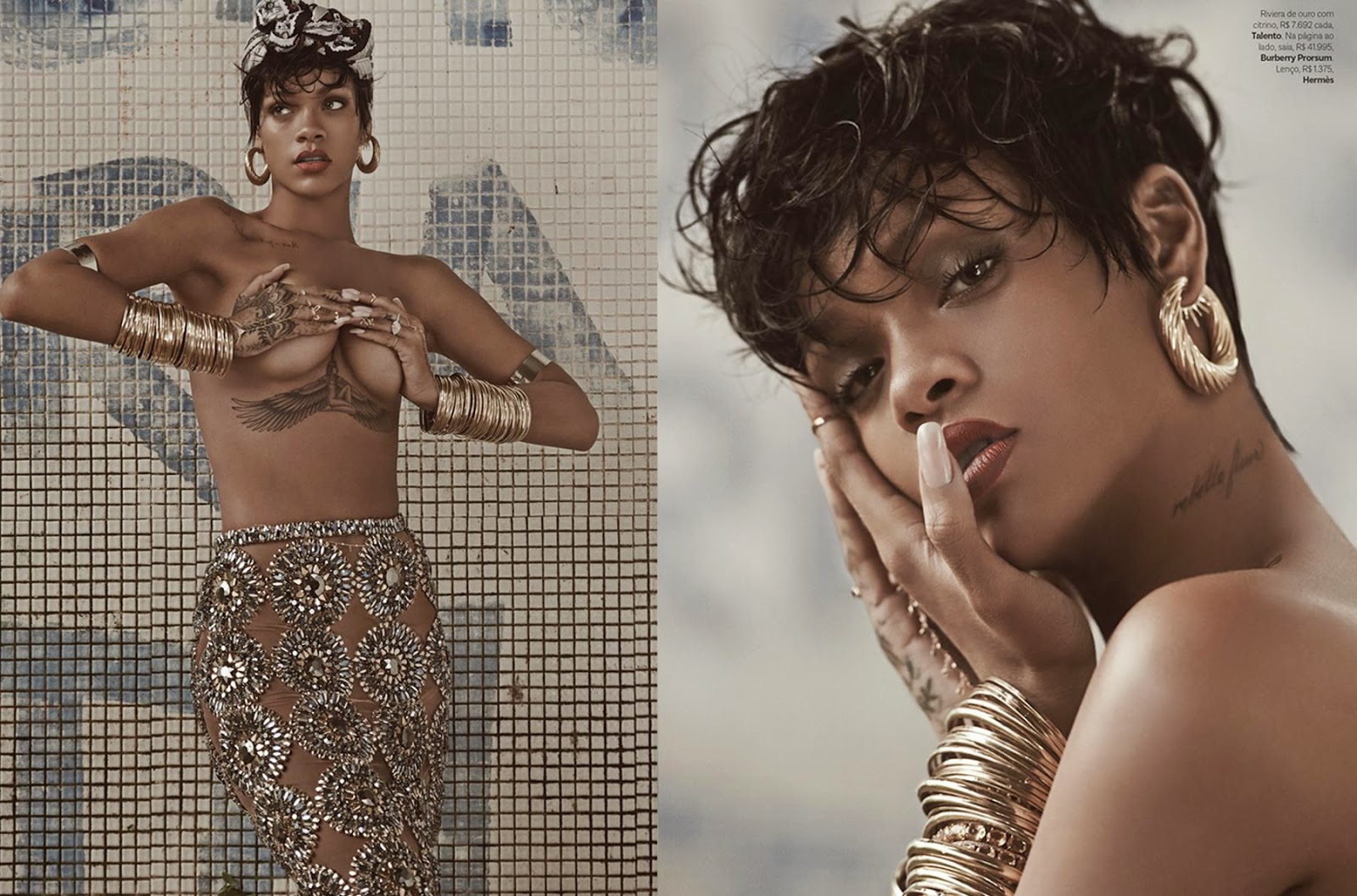 rihanna for mariano vivanco