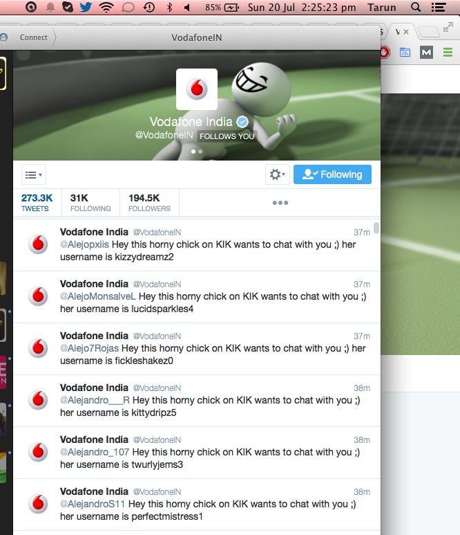 Vodafone India, twitter account hacked, phishing attack