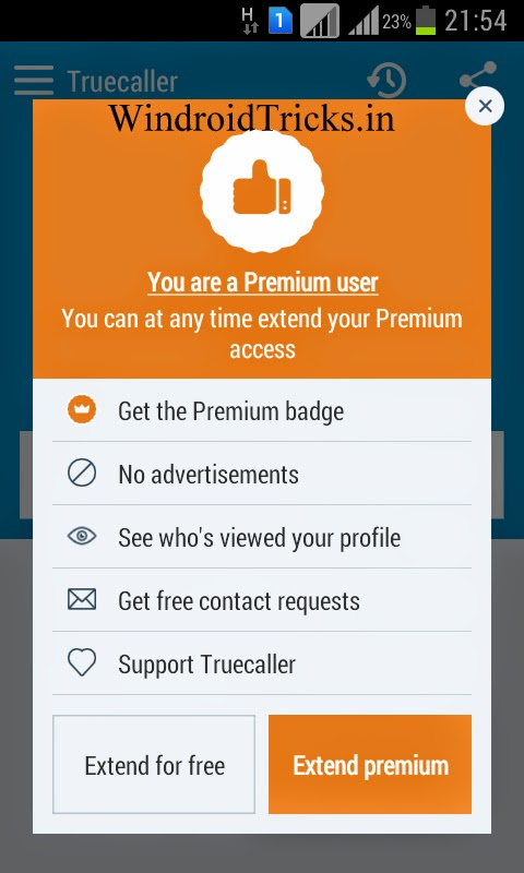 Free one Year Subscription for Truecaller