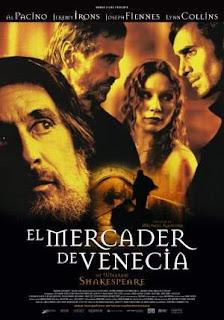 Cartel de la película El mercader de Venecia, de 2004
