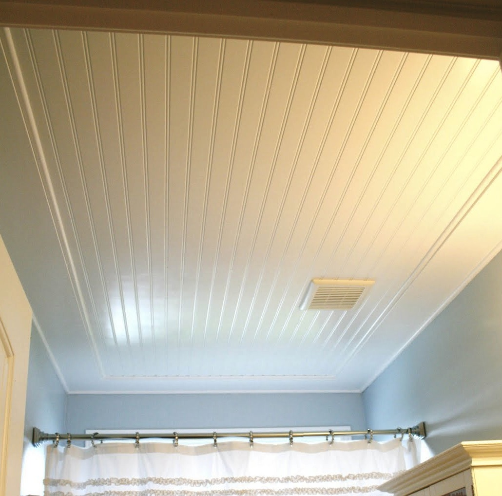 bathroom ceiling ideas over popcorn peaceful design bathroom beadboard would be super easy to install over the existing osb i love how bright the