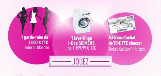 Jeux concours Mir: 60 tickets Kadeos de 70 euros ou 1 lave-linge ou 1 garde-robe de 1500€ bon plan jeux concours mir