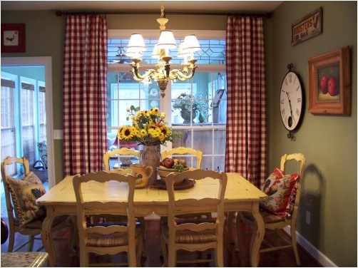 French country dining room decor long hairstyles for Country dining room ideas