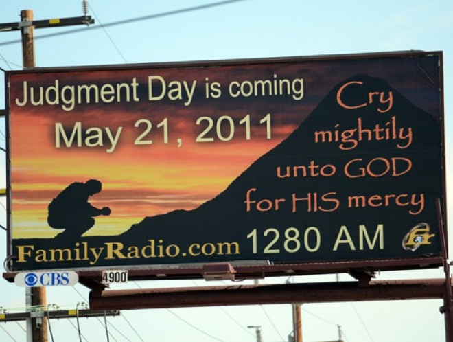 is may 21 judgement day. Judgment Day is May 21