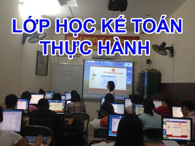 Lớp học kế toán tổng hợp thực hành tại Thừa Thiên Huế