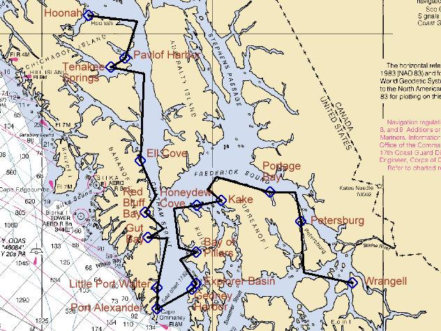 Sailing Rover Hoonah To Petersburg And Wrangell Via Port Alexander
