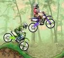 Corrida de motos da modalidade motocross