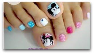 Diseños de uñas de pies con figuras !!
