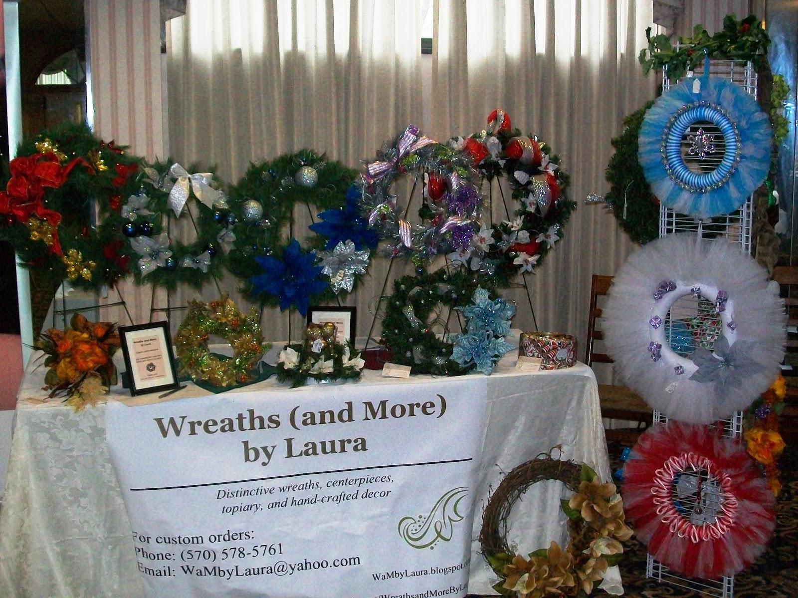 craft fair display ideas for wreaths