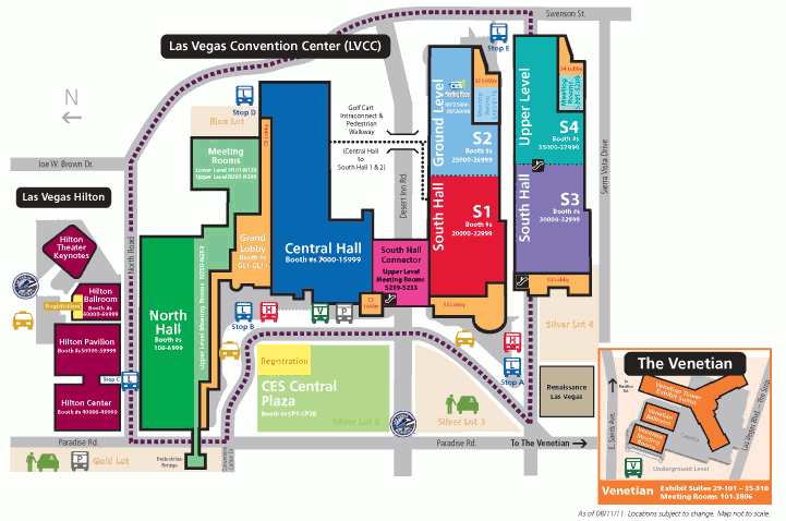LVCC Main - CES 2012 revealed: Maps! Conference Brochure! PMA@CES TechZone!