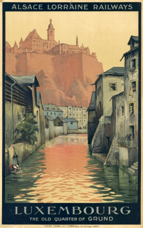 Vintage Travel Posters Luxembourg