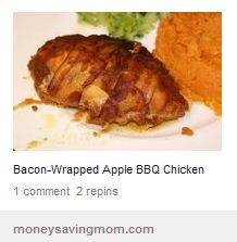 "... , Done That"" by 2 Pinterest Junkies: Bacon Wrapped Apple BBQ Chicken"