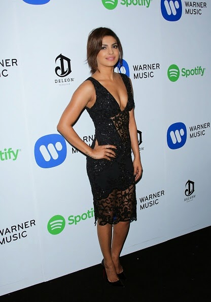 Priyanka Chopra Cleavage show at GRAMMY After Party