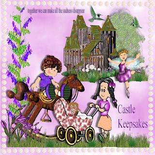 "Free scrapbook kit ""Castle Keepsakes"" from JennyJennyJenny"