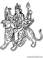 Halaman Mewarnai Gambar Dewa Vishnu