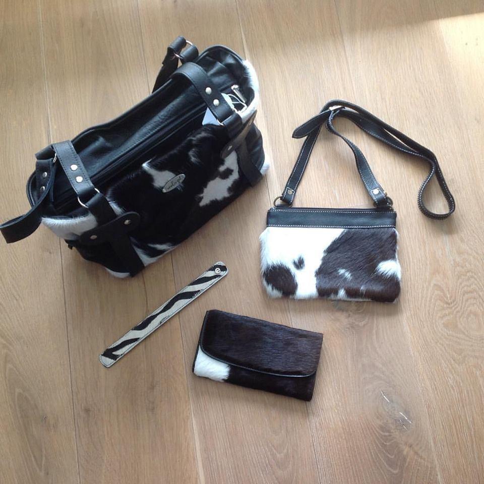 Tassen Koeienhuid : Fabstyle big cowskin bag