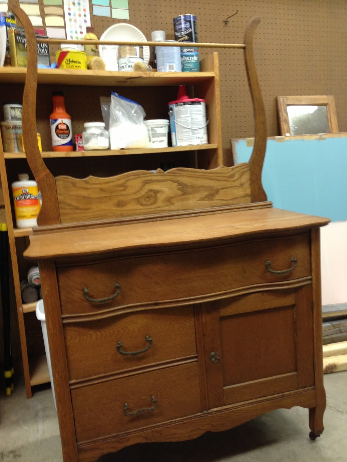 Great ::Antique Wash Stand And Dry Sink::