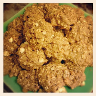 Oatmeal White Chocolate Butterscotch Cookies